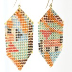 MaralRappDecoAbstractionMeshEarrings
