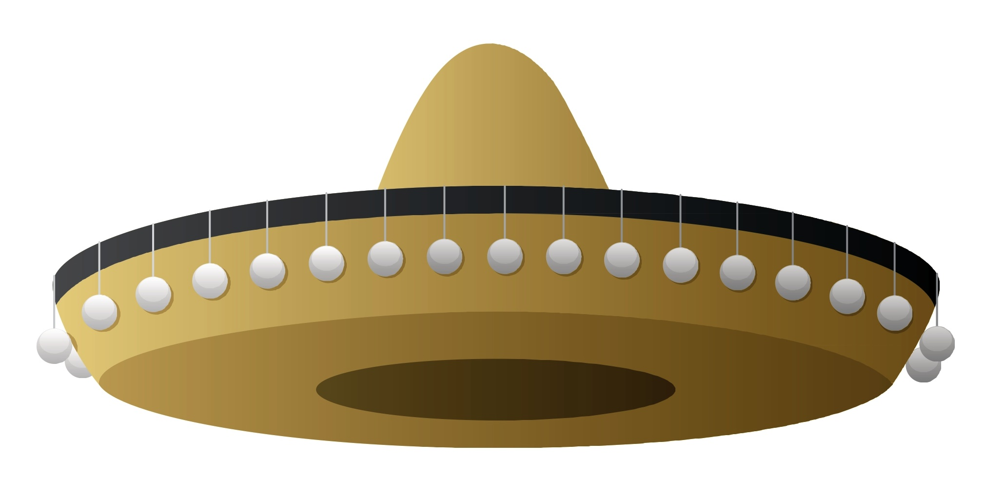 Mexican Sombrero Hat Cartoon